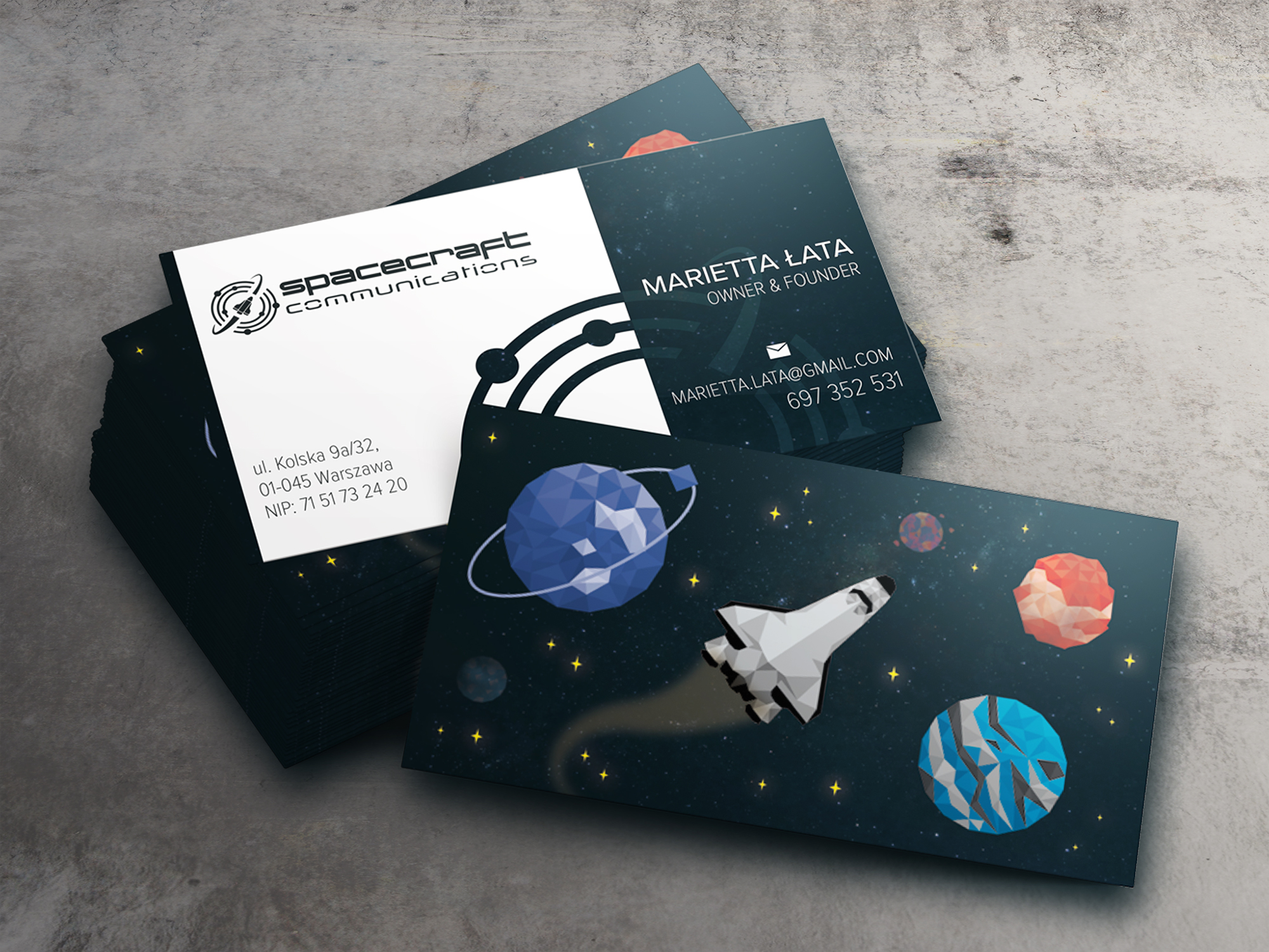 Spacecraft communications business cards - Spacecraft Communications